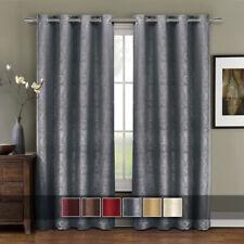 Luxury Prairie Blackout Weave Embossed Grommet Window Curtain Panels