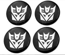 4x 60mm Transformers Decepticon Car Wheel Center Hub Cap Emblem Badge Sticker