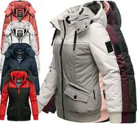 Marikoo Damen Winterjacke Outdoor Funktion Jacke Kapuze Fleece Gefüttert Sumikoo