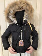 Women's Parajumpers Gobi Padded Bomber Black Jacket Size 12 BNWT RRP £775 EU 40