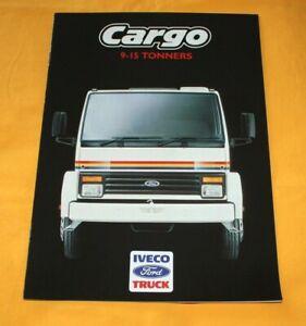 IVECO Ford Cargo 9-15 Ton 1987 (GB) LKW Prospekt Truck Brochure Camion Catalog