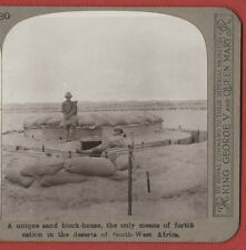 """""""WW1.A UNIQUE SAND BLOCK-HOUSE-SOUTH WEST AFRICA  .REALISTIC  STEREOVIEW"""