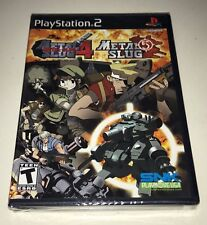 Metal Slug 4 and 5 for Sony Playstation 2 PS2 Video Game New Sealed