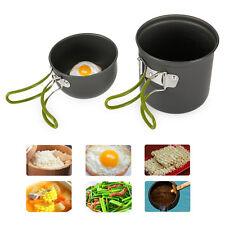 Camping Hiking Backpacking Picnic Cookware Cook Cooking Pot Bowl Set Aluminum