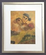 Rita Galle Watercolor on paper Signed & Dated 1991 under Glass 18x22