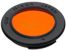 Filtro Nikon O56 arancione innesto a baionetta per montaggio posteriore.