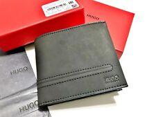 HUGO BOSS WALLET Men's Black  'Highway 4 cc' Coin Card Note Bi-fold BNIB