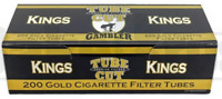Gambler Gold Light TUBE CUT King Size - 10 Boxes - 200 Tubes Box Cigarette Fast