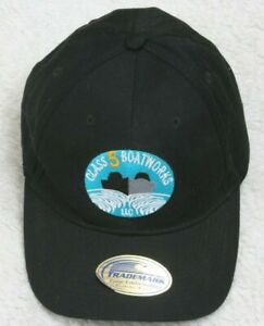 Port & Co. Black Baseball Hat Cap Cotton Adult One Size Strap Back Class 5 Boat