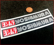 Yoshimura Black x2  200mm Sticker Decal Moto Yamaha Honda BMW Bike Graphic Vinyl