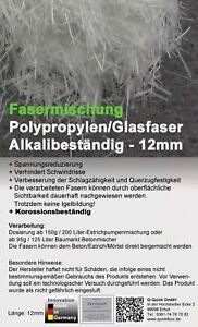900G Beutel mit 12mm Polypropylen Pp Fasern Betonbohrer /& Estrich Fasern