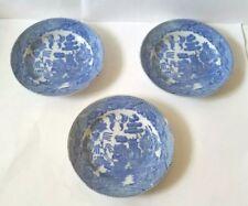 """Set of 3 - Blue Willow Childs Plates Dishes - 3 3/4"""""""