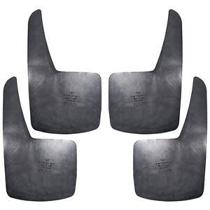 4x Black Set Front Rear Rubber Mud Flaps Splash Guards Car Universal Body Fender