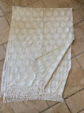 ANTIQUE LARGE SIZE HAND CROCHETED CURTAIN