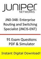 JN0-348 Juniper Enterprise Routing Switching JNCIS-ENT (91 Ques PDF Sim->Email)