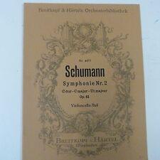 double bass SCHUMANN Symphonie 1 B major Op 38 , Breitkopf & Haertel 4476