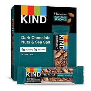 KIND Bars Dark Chocolate Nuts & Sea Salt Gluten Free 1.4 Ounce (12 Count)