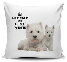 Keep Calm And Hug A Westie Cushion Cover - 40cm x 40cm - Brand New