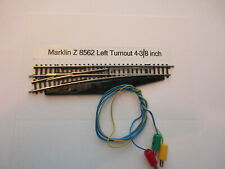 Marklin Z Track - Left Turnout Wired w/Plugs #8562 (LN)