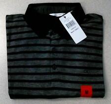 Calvin Klein Men's Lifestyle Cotton Blend Polo, Black Combo Stripes, Medium, NEW