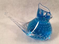 Blue Jay Controlled Bubble Glass Figurine/Paperweight