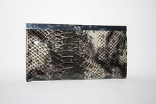 New Designer Large Woman's Ladies Wallet Eco Leather Reptile Skin Silver 7,5x4""