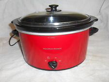 NICE HAMILTON BEECH 5 QUART SLOW COOKER WITH GASKET LID- RED