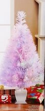 "32"" White Color Changing Fiber Optic Christmas Tree"