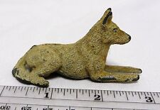 "Vintage Flocked Lead GERMAN SHEPHERD DOG 3"" (TIMPO?)"