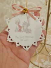 Precious Moments Snowflake Ornament May Your Christmas Be Warm New in Box; 1990