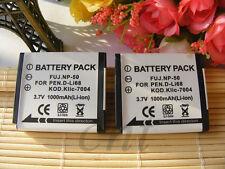 2x NP-50 NP50 Battery For FujiFilm FinePix XP200 XP170 XP150 F850EXR X10 X20 XF1