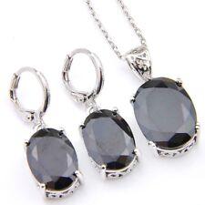 Holiday Jewelry Gift 2 pcs 1 Lot Black Onyx Gemstone Silver Dangle Hook Earrings