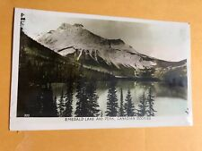 Ac199 RPPC Emerald Lake Peak Canadian Rockies Real Photo 1940