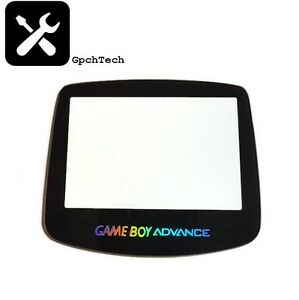 Game Boy Advance NEW GBA GLASS Replacement Lens With Holographic Text. GBA MODS
