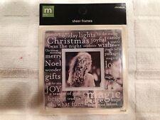 Making Memories Sheer Frames - Christmas - Scrapbooking Crafts #24453