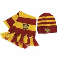 Harry Potter Hogwarts Knit Hat and Scarf Set Beanie Officially Licensed