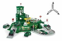 Military Base Command Cente Playset 5 Vehicle Cars Trucks Childrens Kids Toy