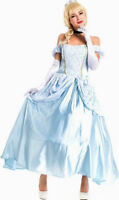 Womens Cinderella Princess Adult Disney Fancy Dress Costume Size 8 - 10