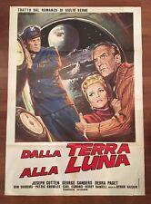 manifesto,Dalla Terra alla Luna From the Earth to the Moon,VERNE,Haskin,Cotten