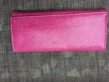 "GOTTEX Rare Pink Snakeskin Print Leather Women's Clutch/wallet 8.75""x4""X1"""