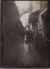 Jérusalem Palestine Israël Voyage en Moyen-Orient 1909Vintage silver 9x6,5 cm