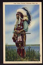 INDIEN chef indien CHEF YELLOW THUNDER Wisconsin