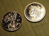 2 COPPER Oz Coins Rounds Morgue Anne morgan Dollar Walker Half Zombucks Zombie