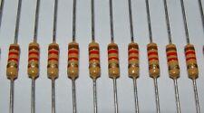 25 x Iskra 1.2k 1960s / 1970s style carbon film resistor 1k2   1200 ohm