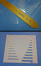 COMMON SIZES SLOT GAUGE - PRECISION LASER CUT - FOR LEATHER CRAFTERS, VERY HANDY