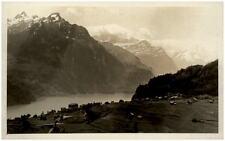 SEELISBERG Schweiz Kanton Uri ~1930 Panorama mit Urnersee Flieger-Postkarte