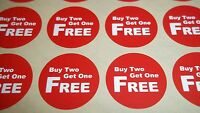 120 13mm Bright Red Buy 2 Get 1 Free Stickers Sticky Labels Tags Removable