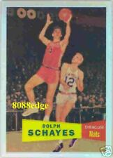 1996-97 TOPPS STADIUM FINEST RC REFRACTOR: DOLPH SCHAYES #41 ROOKIE CARD REPRINT