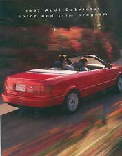 1997 Audi A4 Cabriolet Paint & Interior Colors Brochure mx3751-2JU2JM