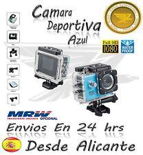 Video Camara Deportiva HD Action Camera  LCD Similar GoPro Azul 1080p